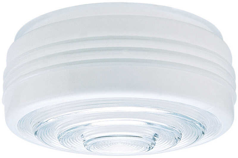 Westinghouse  Drum  White  Glass  6 pk Shade