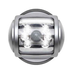Sharper Image  6 lumens Silver  LED  Spotlight  C Battery