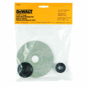 DeWalt  4-1/2 in. Dia. x 5/8 in.   Paper  Backing Pad  8500 rpm 1 pc.