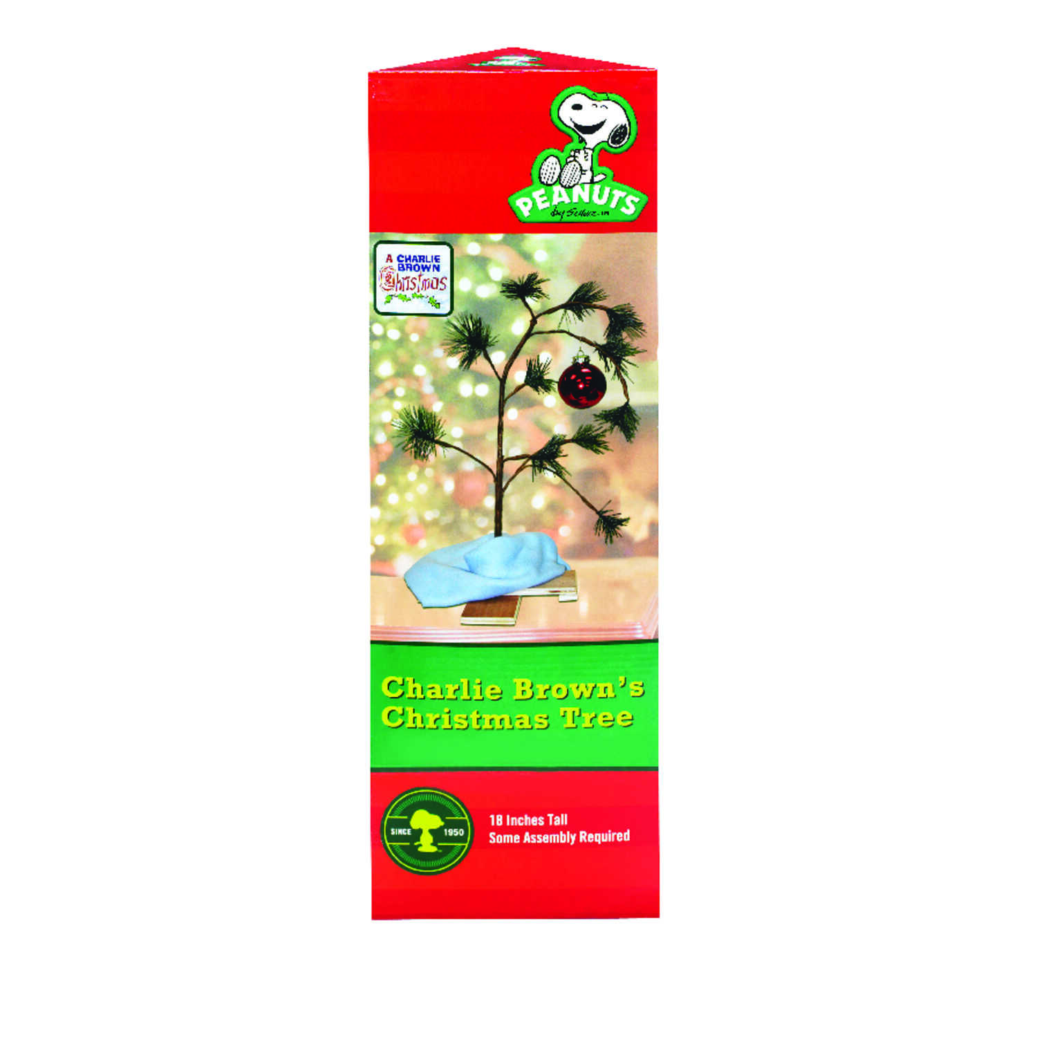 Product Works  Charlie Brown Tree  Green  Christmas Decoration  1 each PVC