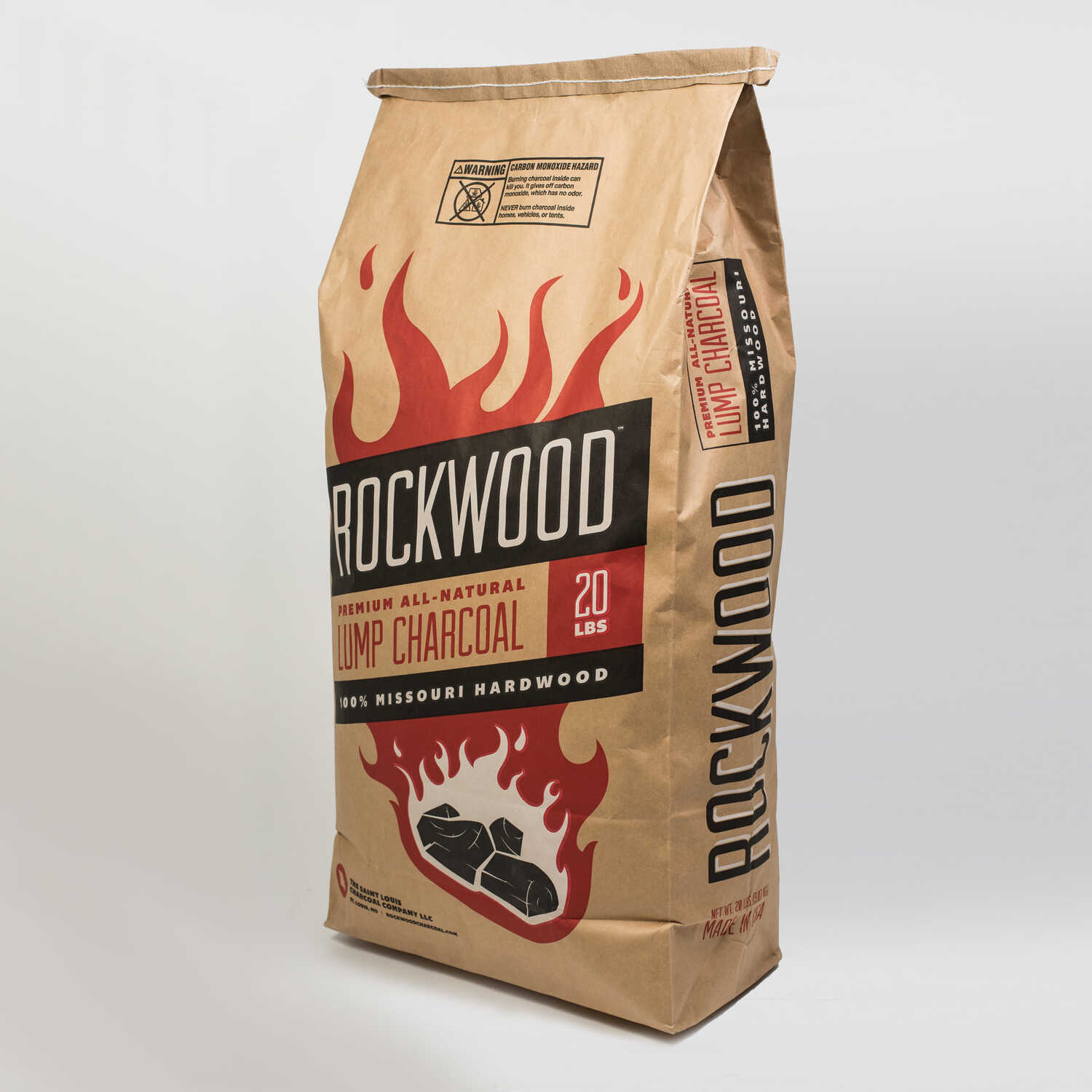 Rockwood  All Natural Hardwood  Lump Charcoal  20 lb.