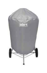 Weber  Gray  Grill Cover  23 in. W x 28.5 in. D x 36 in. H For Fits 22 inch Weber charcoal grills