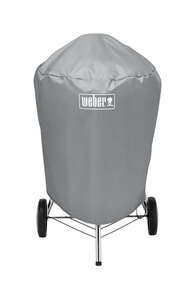 Weber  Gray  Grill Cover  28.5 in. D x 23 in. W x 36 in. H For Fits 22 inch Weber charcoal grills