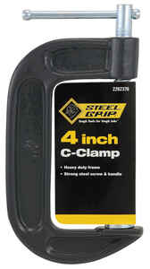 Steel Grip  4 in.  Adjustable  C-Clamp  1 pc.