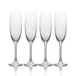 Mikasa  8 oz. Clear  Crystal  Champagne Flutes