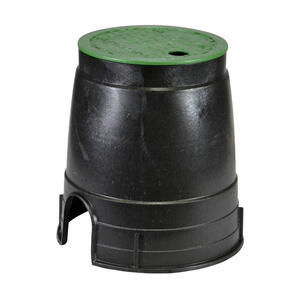 NDS  Econo  8.5 in. W x 8.5 inch  H Round  Valve Box with Overlapping Cover  Black/Green