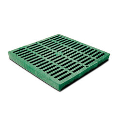 NDS  12 in. Green  Square  Polyethylene  Drain Grate