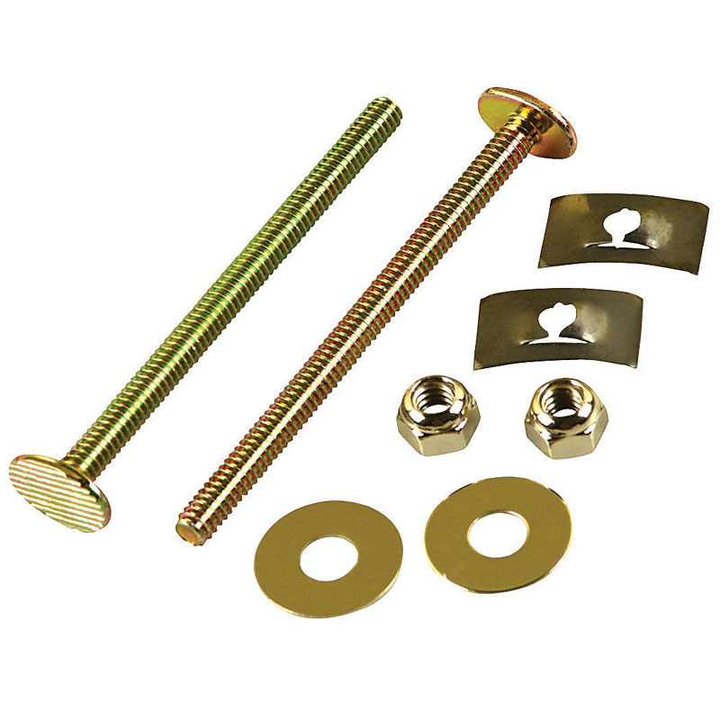 Danco  Toilet Bolts Set  1/4 in. H x 3-1/2 in. L Brass
