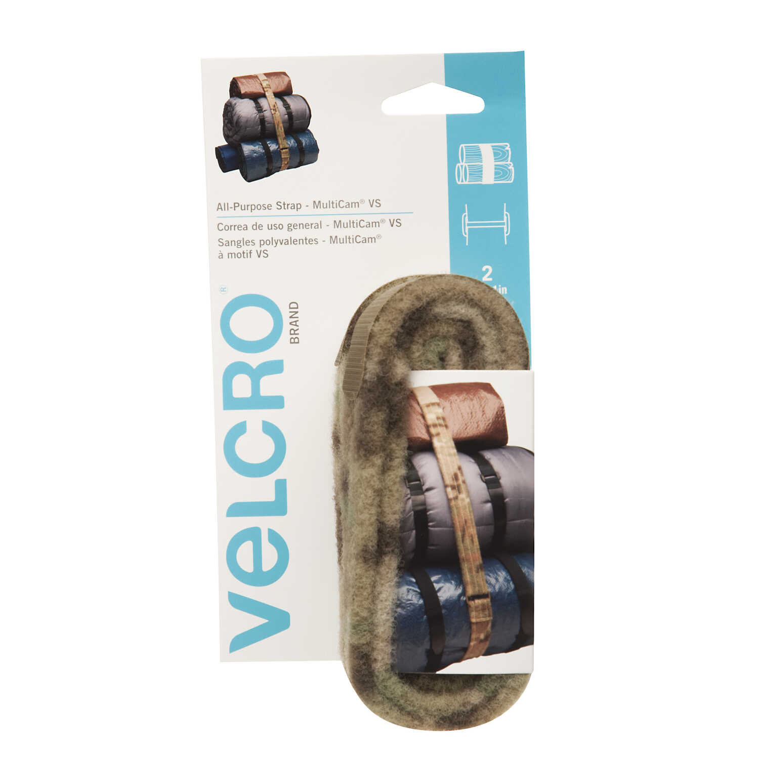 Velcro  MultiCam  48 in. L All Purpose Strap  2 pk