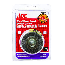 Ace  2 in. Crimped  Wire Wheel Brush  Steel  4500 rpm 1 pc.