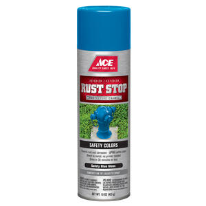 Ace  Rust Stop  Gloss  Safety Blue  Spray Paint  15 oz.