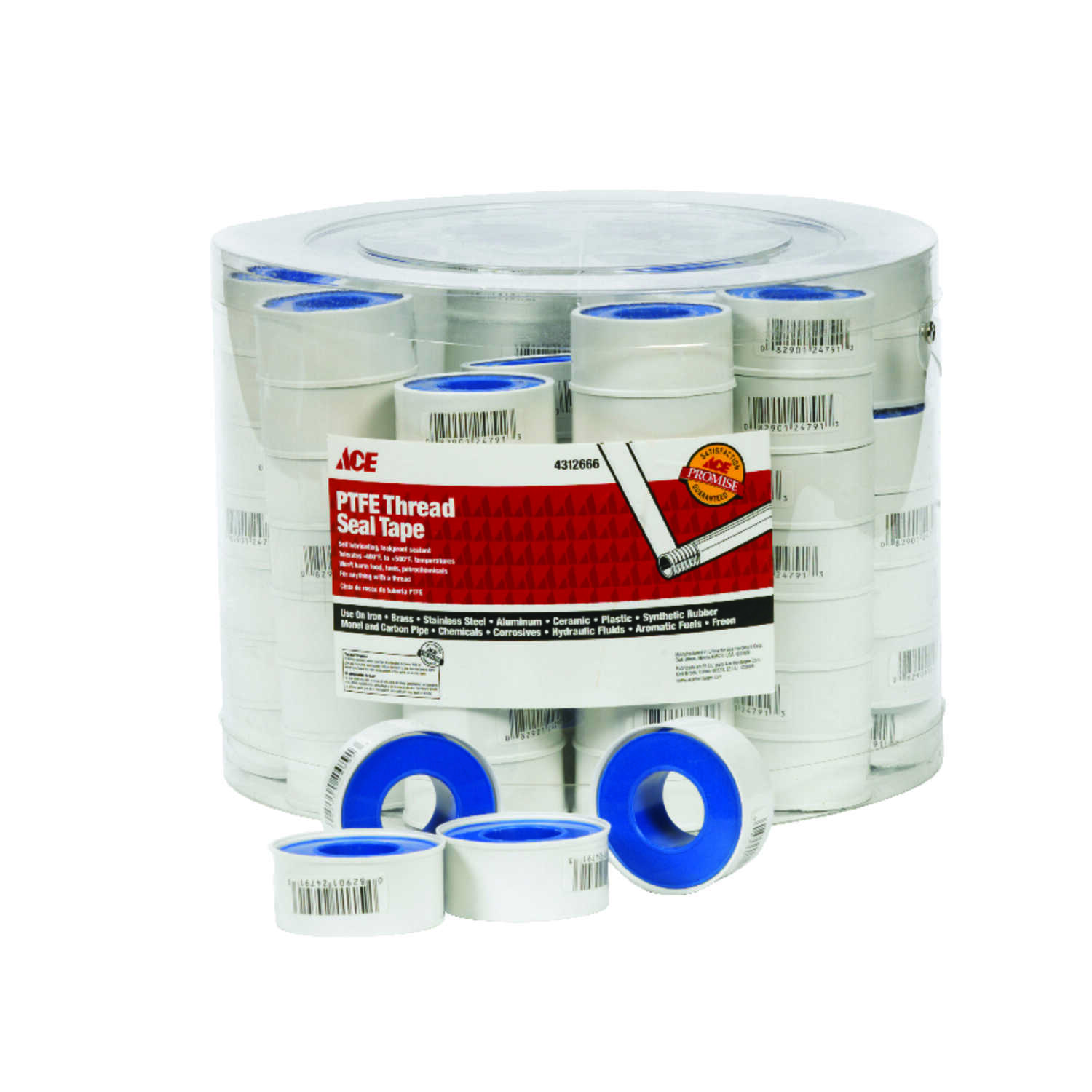 Ace  Blue  520 in. L x 3/4 in. W Thread Seal Tape  15 oz.