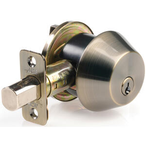 Ace  Antique Brass  Single Cylinder Deadbolt