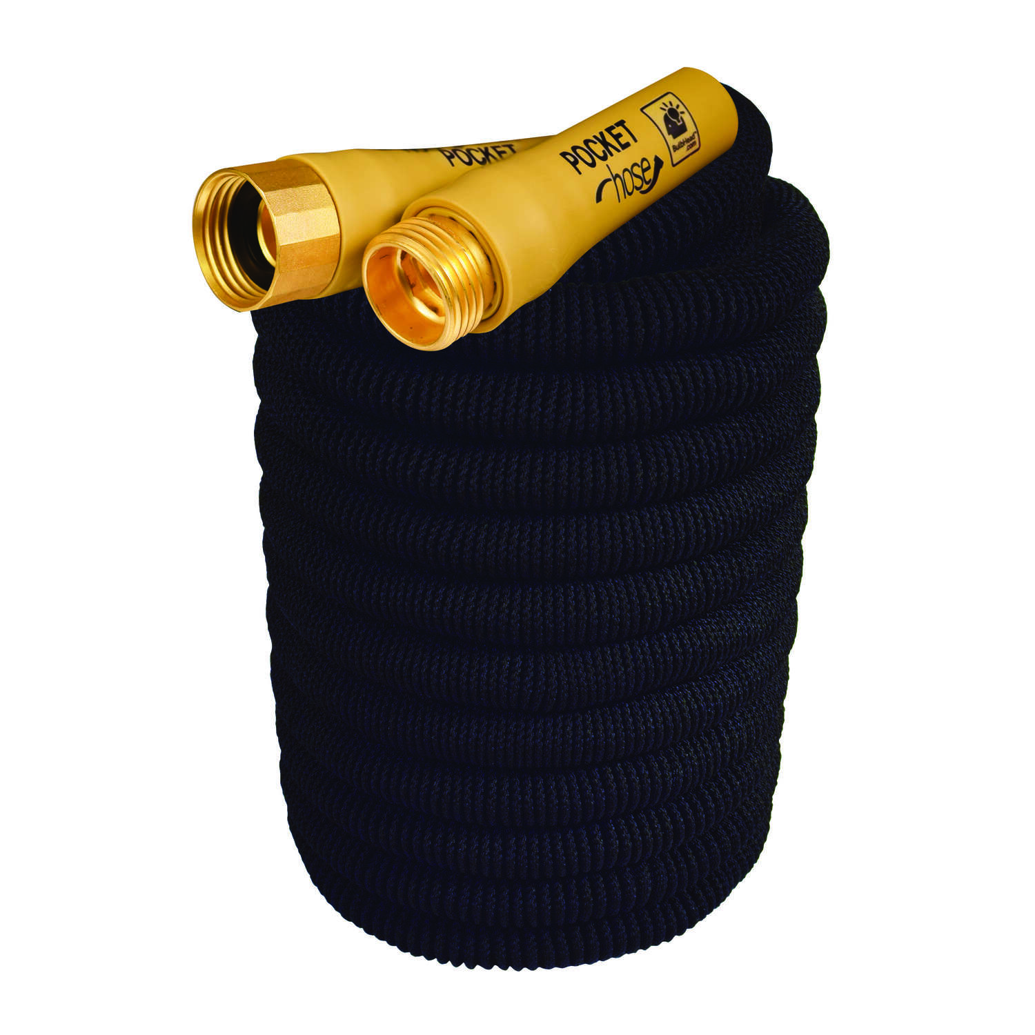 Telebrands  Top Brass Bullet As Seen On TV  3/4 in. Dia. x 75 ft. L Expanding  Black  Garden Hose