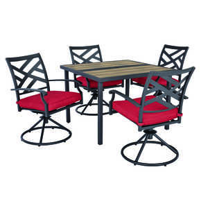 Living Accents  5 pc. New Castle  Dining Set  Red