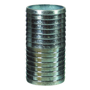 BK Products  2 in. Barb   x 2 in. Dia. Barb  Galvanized Steel  Coupling