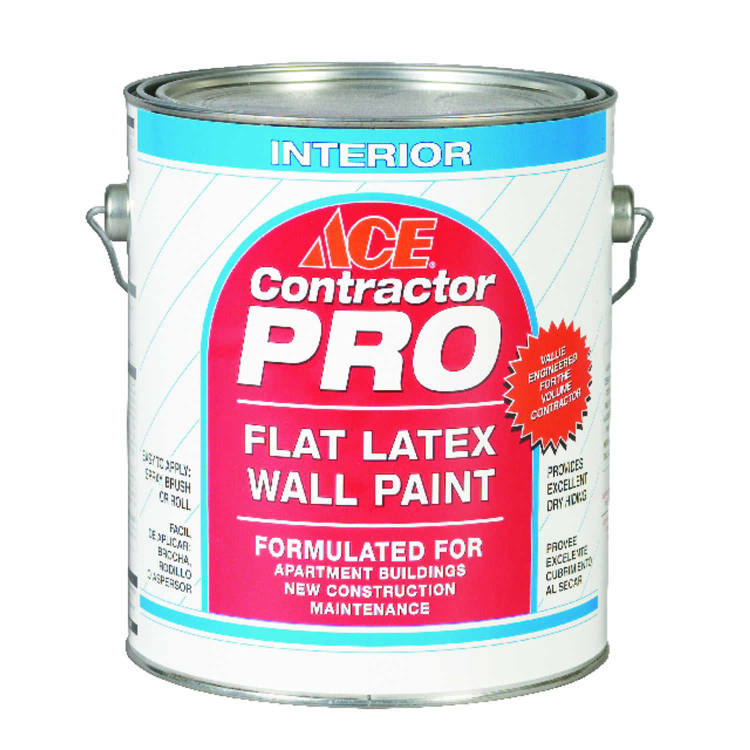 Ace  Contractor Pro  Flat  White  Latex  Paint  1 gal.