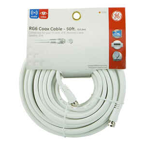 GE  50 ft. Coaxial Cable
