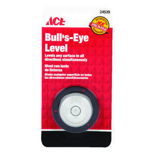 Ace  1-3/8 in. Plastic  Bull's Eye  Level  1 vial