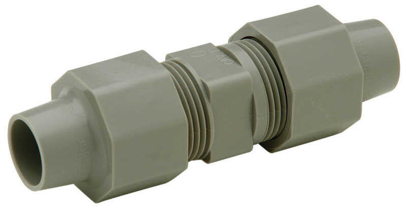 Zurn  3/8 in. CTS   x 3/8 in. Dia. CTS  Coupling  Polybutylene