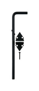 Ace Cane Bolt 12 in. x 1/2 in. Large For Double Doors on Utility Buildings or Large Gates Black