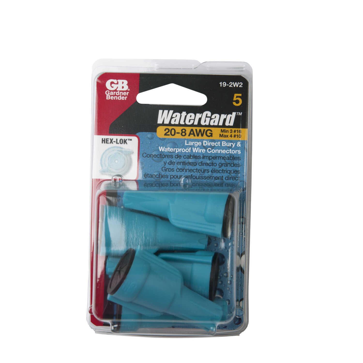 Gardner Bender  WaterGard  Wire Connector  5 pk 22-8 Ga.