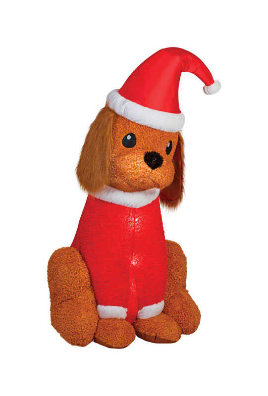Gemmy  Cocker Spaniel Dog  Christmas Inflatable  Fabric  1 pk
