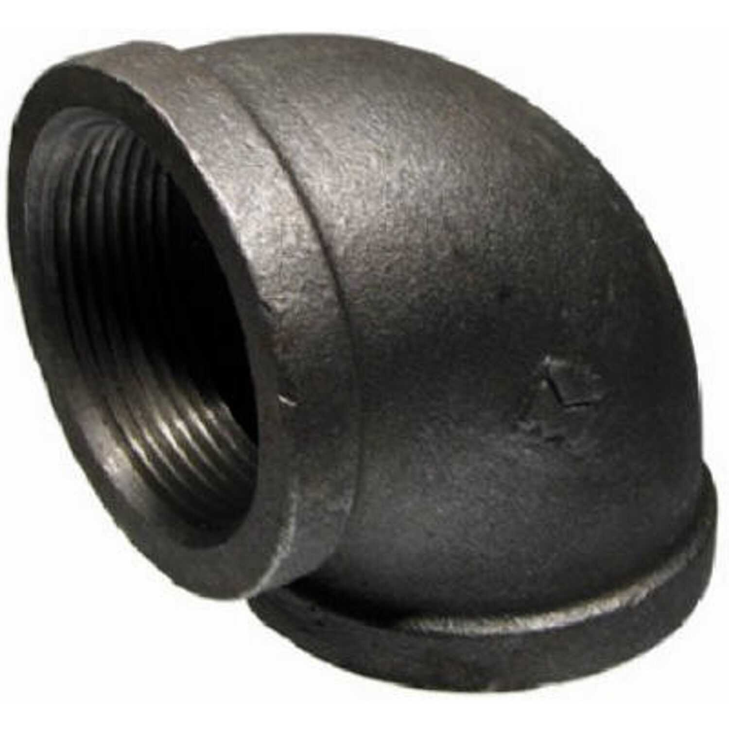 BK Products  Southland  4 in. FPT   x 4 in. Dia. FPT  Black  Malleable Iron  90 Degree Elbow