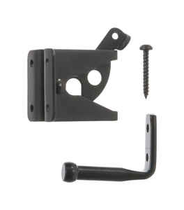 Ace  6.89 in. H x 5 in. W x 1.89 in. L Gloss  Black  Zinc  Gate Latch