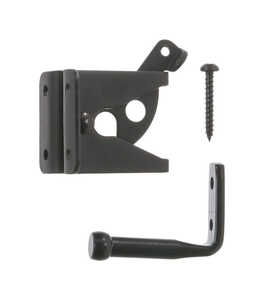 Ace Gate Latch Outswing 2 in. x 1-3/4 in. For gates, Shed/Barn Doors or Animal Pens Black