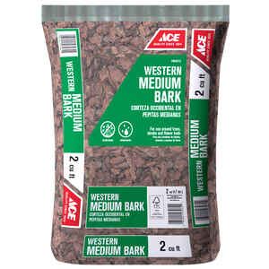 Ace  Brown  Western Bark  Mulch  2 cu. ft.