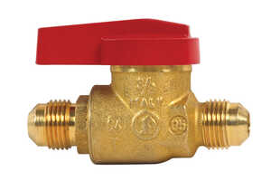 B & K  Ball Valve  3/8 in. Flare   x 3/8 in. Dia. Flare  Brass  One Piece