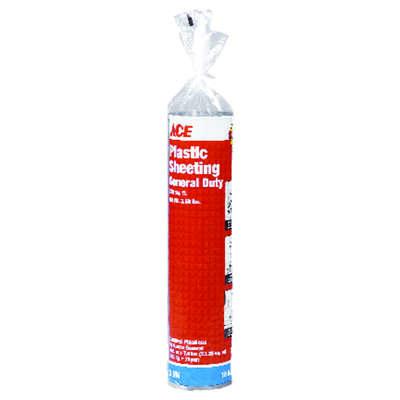 Ace Plastic Sheeting 3 Mil X 10 Ft W X 25 Ft L Polyethylene Black Ace Hardware
