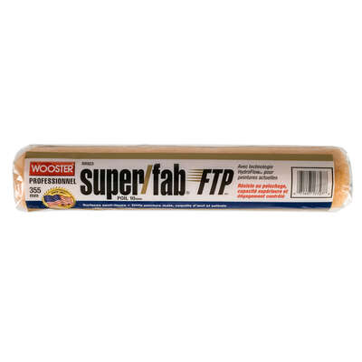 Wooster  Super/Fab FTP  Synthetic Blend  3/8 in.  x 14 in. W Regular  Paint Roller Cover  1 pk