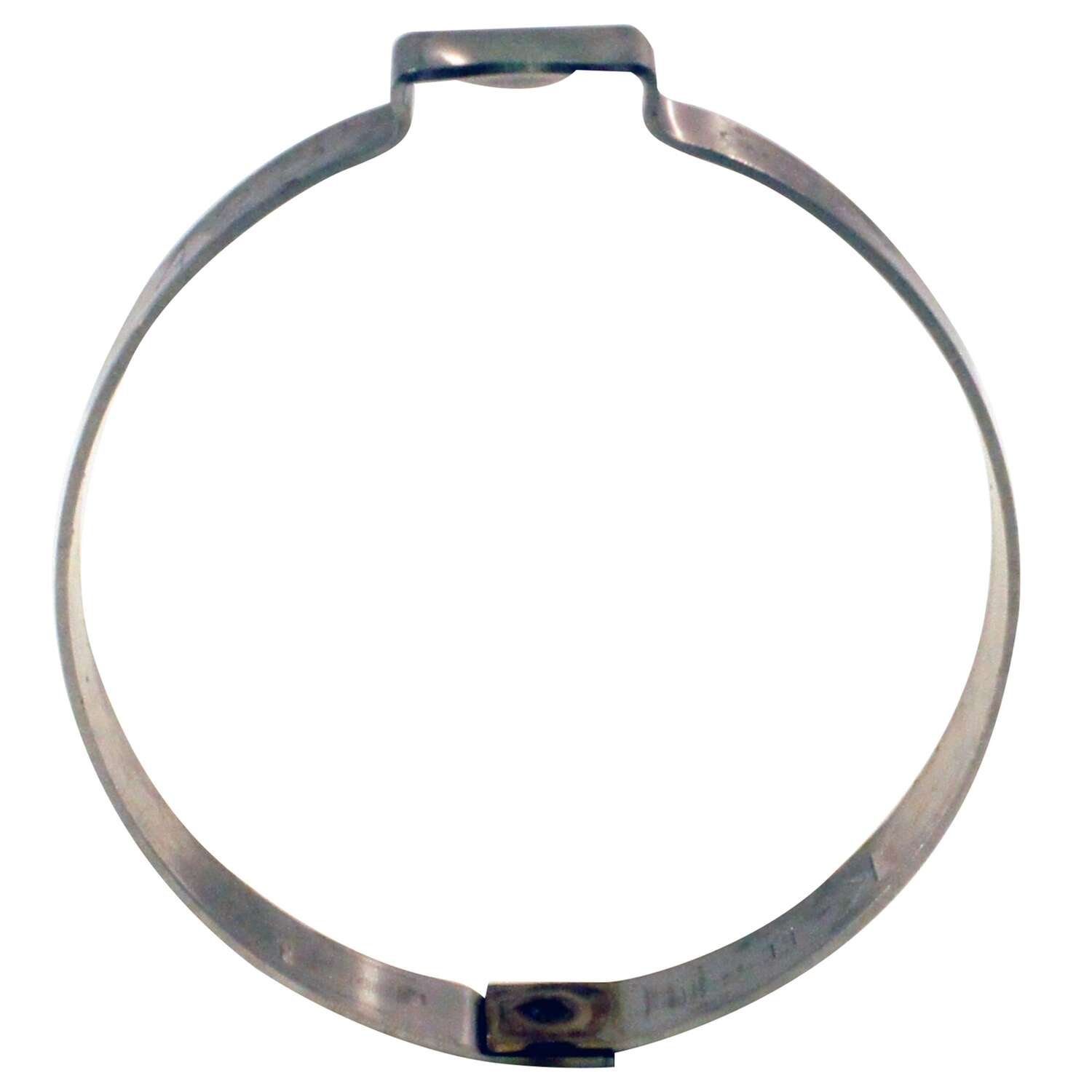 Apollo 1 in. to 1 in. SAE 24 Silver Clamp Ring Stainless Steel Band