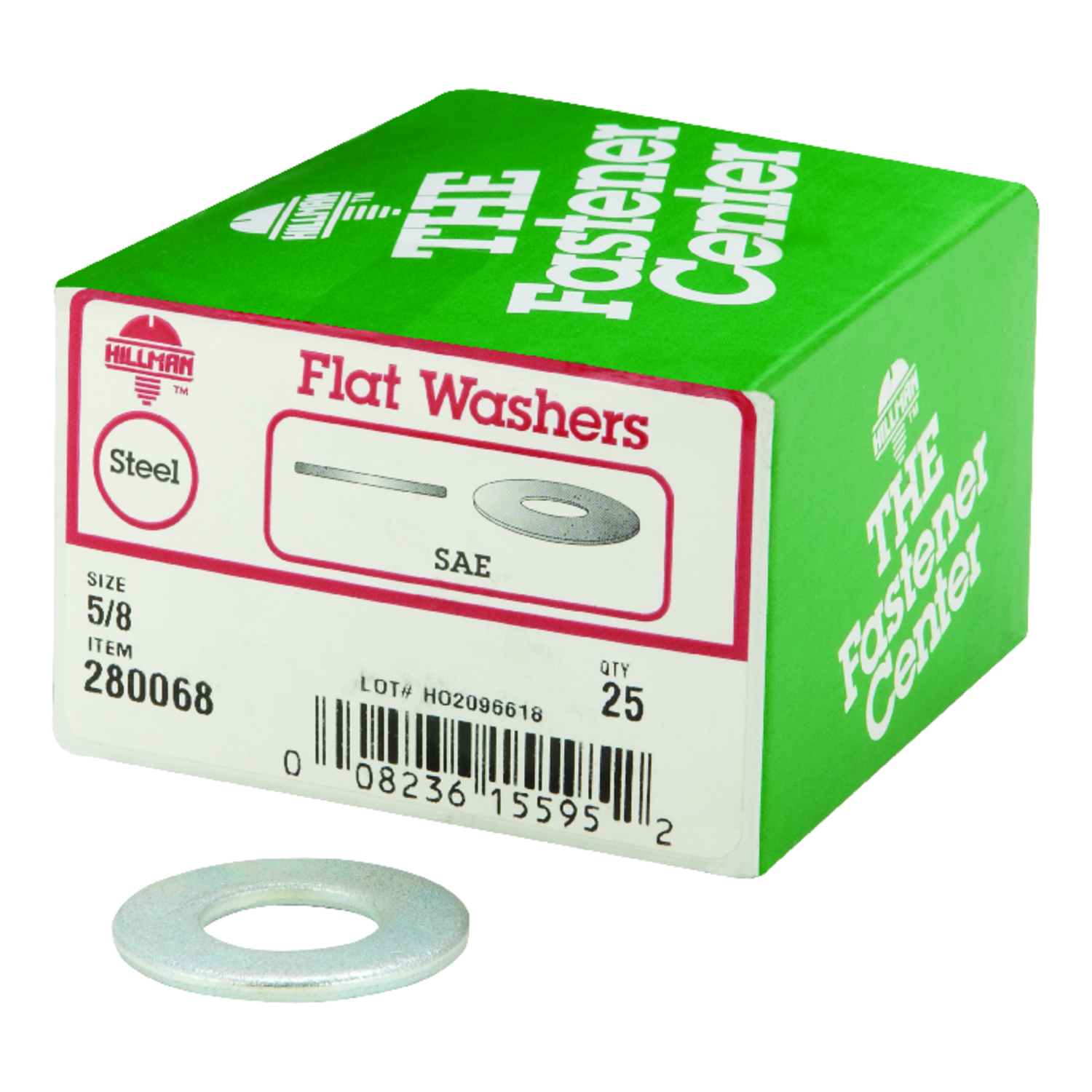 HILLMAN  Zinc-Plated  Stainless Steel  5/8 in. SAE Flat Washer  25 pk