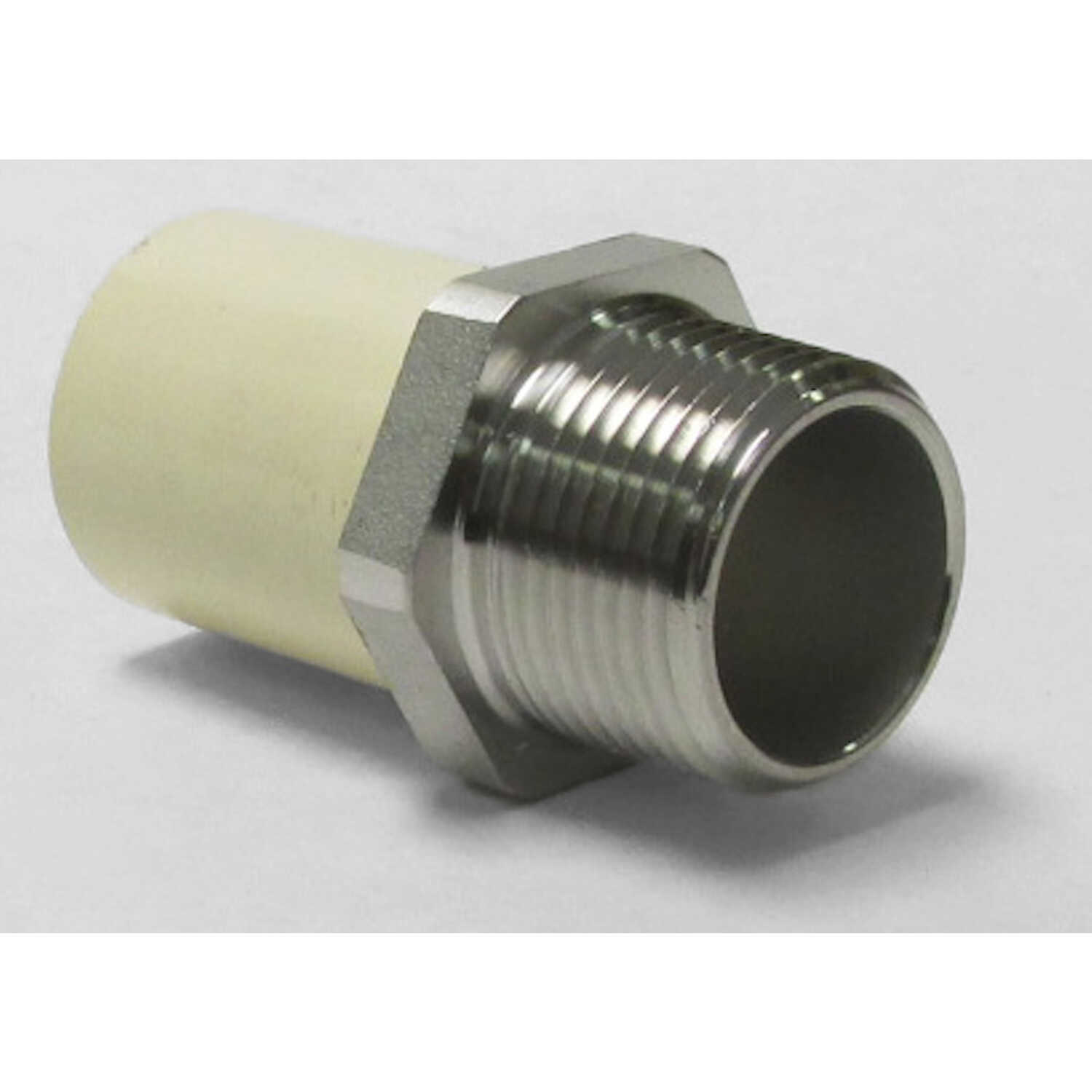 KBI  1/2 in. MPT   x 1/2 in. Dia. Slip  Transition Adapter