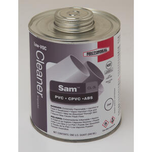Rectorseal  Sam  Clear  PVC Cement  For ABS/CPVC/PVC 32 oz.