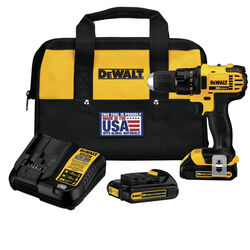 DeWalt  20 volt 1/2 in. Brushed  Cordless Compact Drill/Driver  Kit (Battery & Charger)