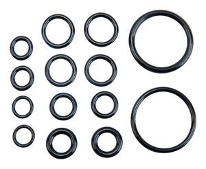 Ace  0.00 in. Dia. Rubber  O-Ring Assortment  14 pk
