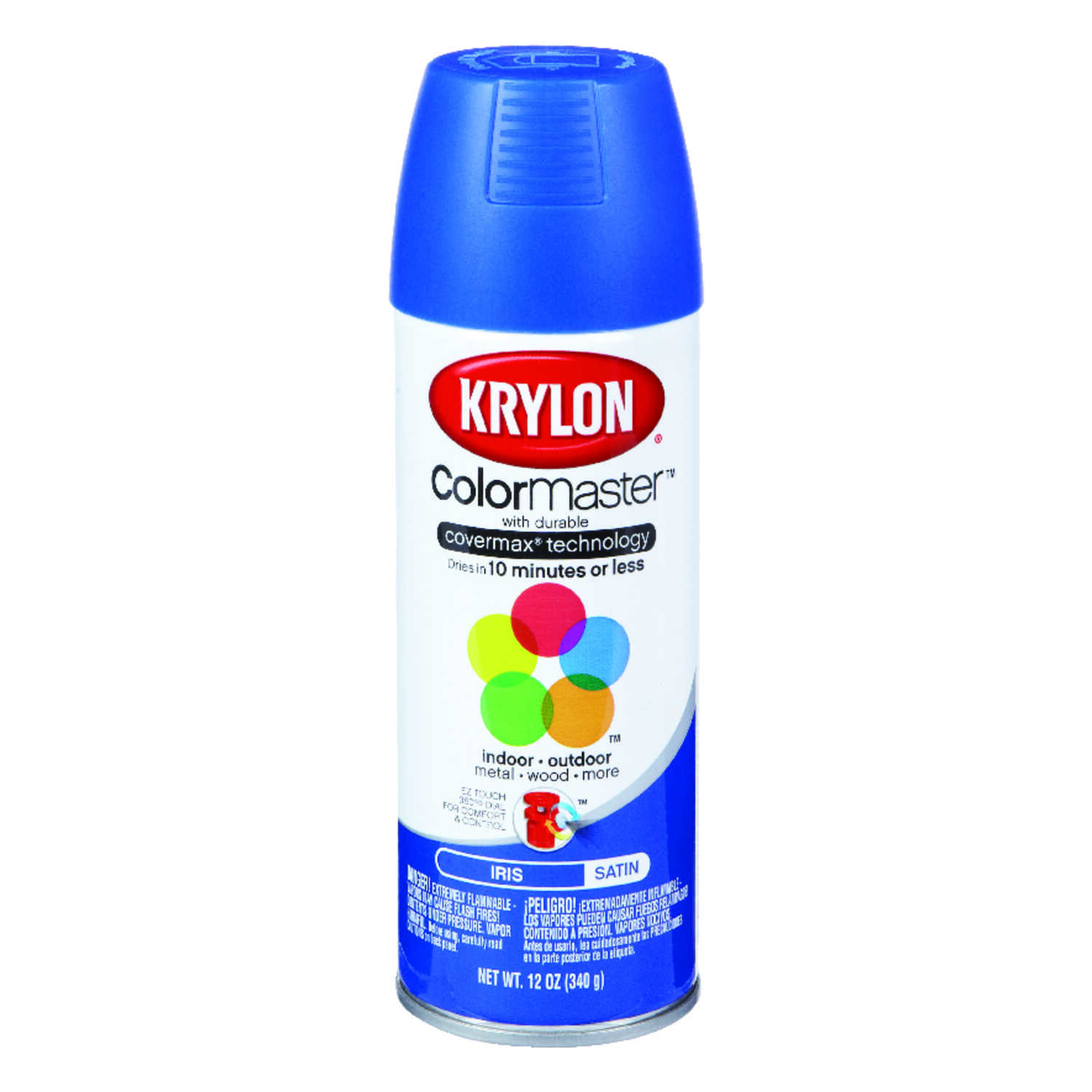Krylon  ColorMaster  Satin  Spray Paint  12 oz. Iris