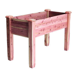 Redy-Garden  32 in. H x 24 in. W x 32 in. H x 24 in. W x 48 in. L Red  Raised Bed  Cedar  Elevated G
