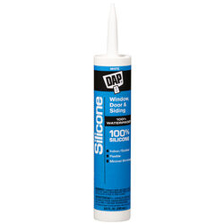 DAP  White  Silicone  Door, Siding and Window  Sealant  9.8 oz.