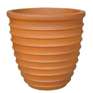 Southern Patio  10.24 in. H x 10 in. W Terracotta  Ceramic  Beehive  Planter
