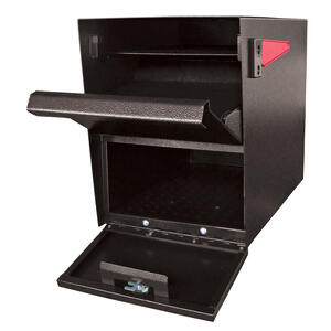 Mail Boss  Package Master  Galvanized Steel  Curbside  Black  Lockable Mailbox  16-1/2 in. H x 12 in
