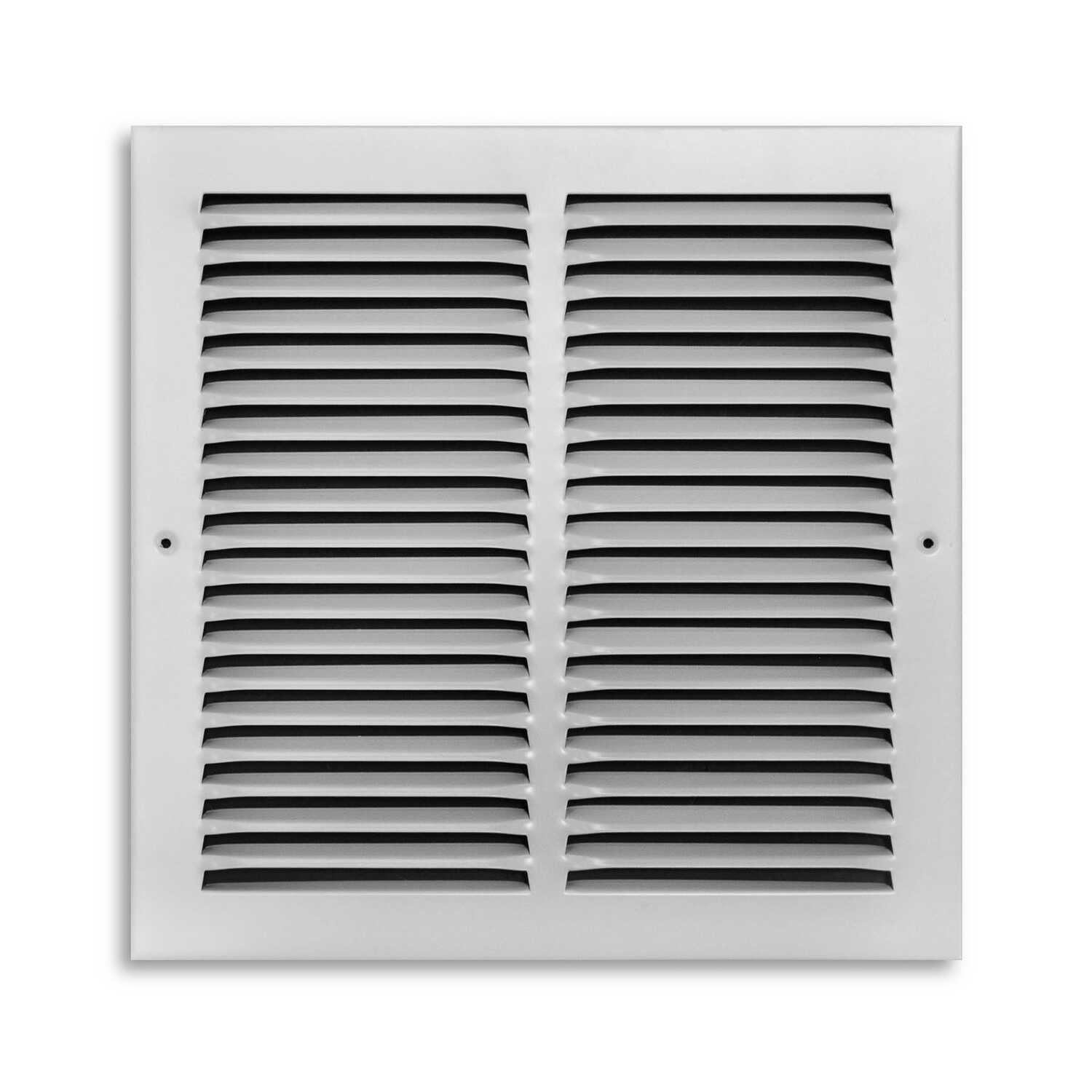 Tru Aire  12 in. H x 1/4 in. D 1-Way  White  Return Air Grille  Powder Coat  Steel