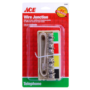 Ace  5 in. Rectangle  PVC  Phone Junction Box  Ivory