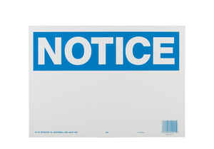 Hy-Ko  English  Notice  10 in. H x 14 in. W Plastic  Sign