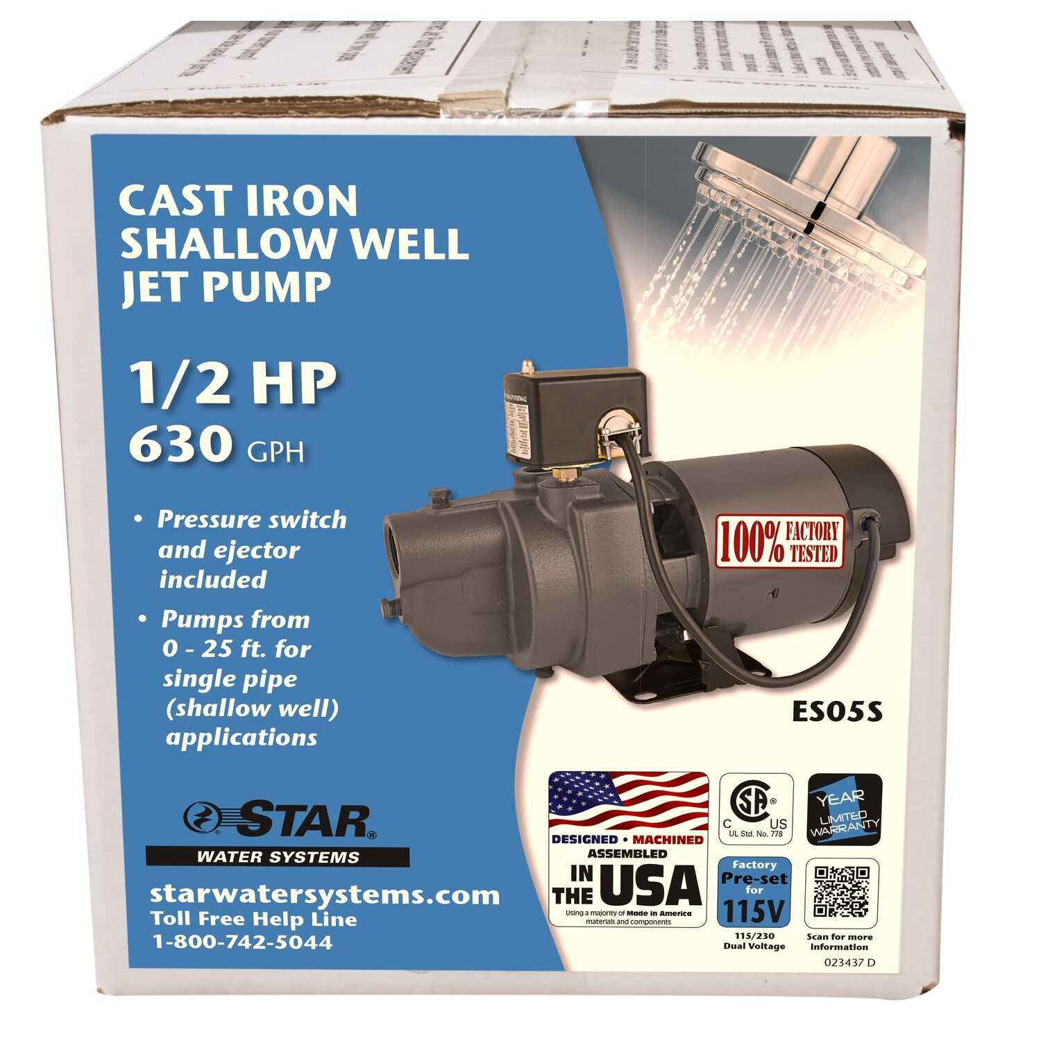 All Stars Pump Booster Test star water systems 1/2 hp 630 gph cast iron shallow well jet