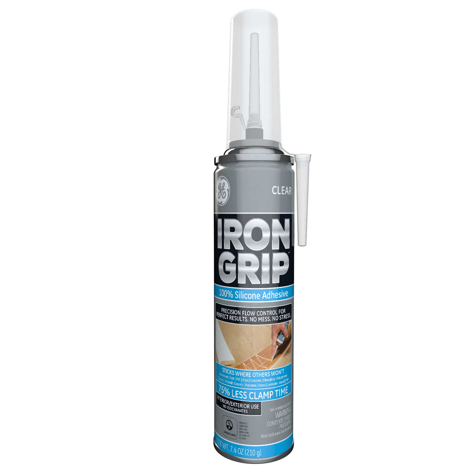 GE Iron Grip Industrial Strength Silicone Adhesive 7 4 ounce oz